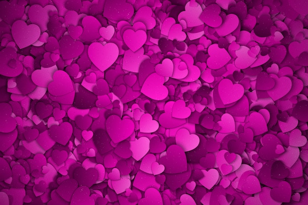 Felice giorno di san valentino cuori sfondo astratto