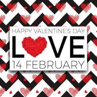 Felice giorno di san valentino e diserbo elementi di design