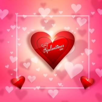 Felice giorno di san valentino e diserbo sfondo elementi di design