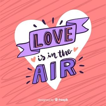 Felice giorno di san valentino lettering