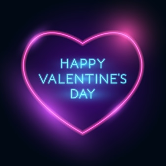 Felice giorno di san valentino modello di saluto