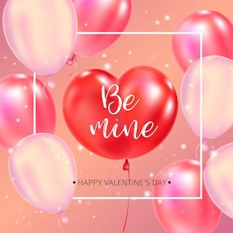 Felice giorno di san valentino poster tipografia con testo scritto a mano calligrafia.