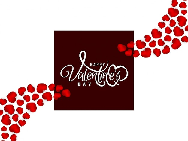 Felice giorno di san valentino saluto sfondo con cuori