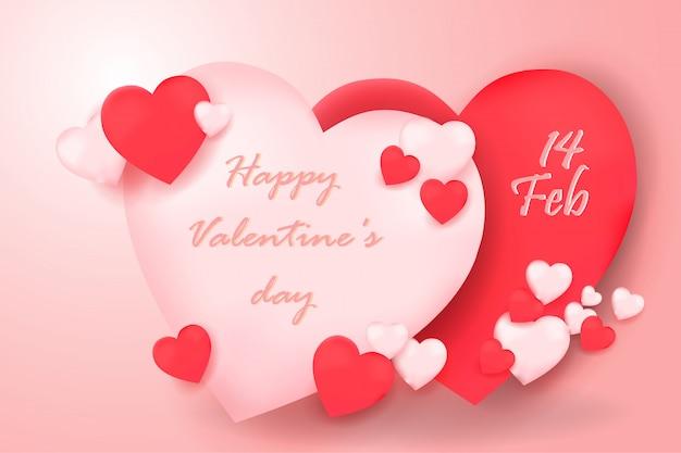 Felice giorno di san valentino sfondo astratto
