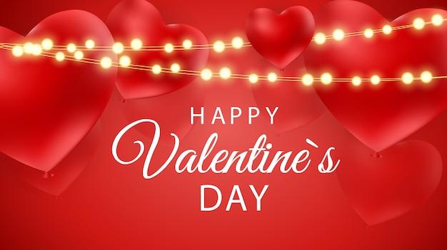 Felice giorno di san valentino sfondo con il cuore