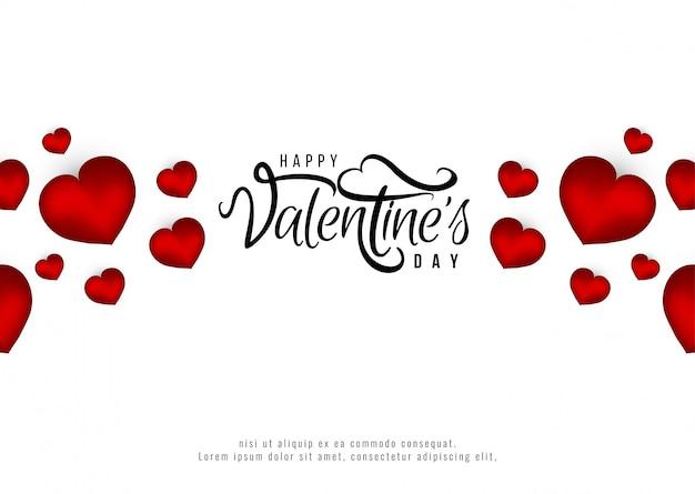 Felice giorno di san valentino sfondo romantico