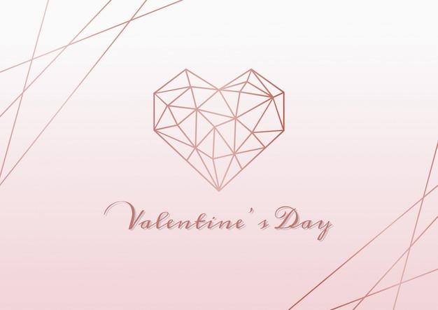 Felice giorno di san valentino sfondo rosa