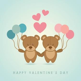 Felice giorno di san valentino su sfondo illustrazione vettoriale