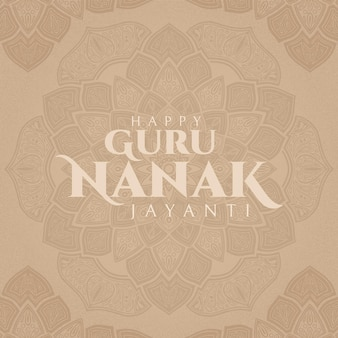 Felice guru nanak jayanti calligrafia