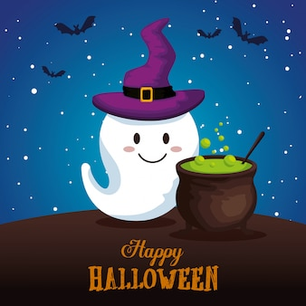 Felice halloween con gosth
