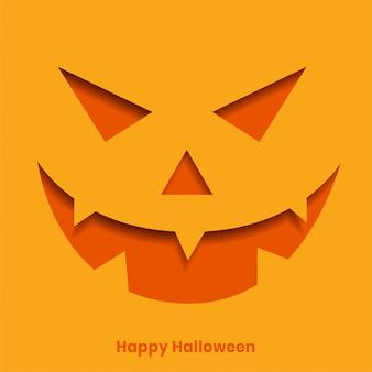 Felice halloween con zucca malvagia