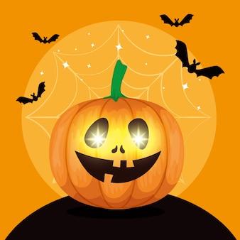 Felice halloween con zucca