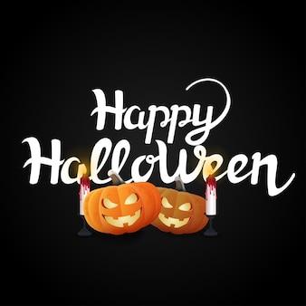 Felice halloween con zucche e candele