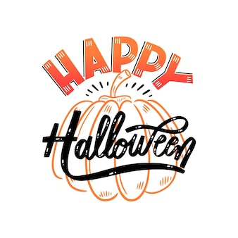 Felice halloween lettering concetto