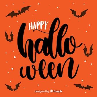Felice halloween lettering sfondo