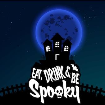 Felice halloween spaventoso notte sfondo