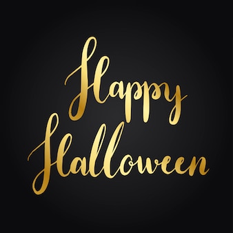Felice halloween stile tipografia vettoriale