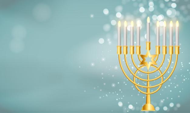 Felice hanukkah, festa ebraica di sfondo