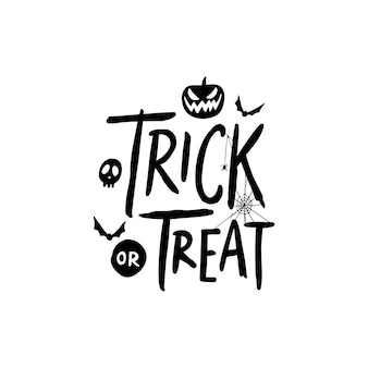 Felice lettering di halloween per poster