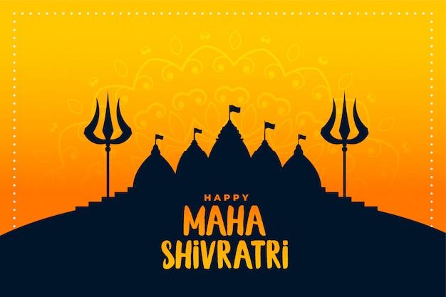 Felice maha shivratri tradizionale festival indiano sullo sfondo