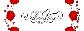 Felice modello di banner decorativo di San Valentino
