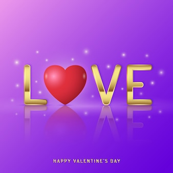 Felice modello di progettazione di banner di san valentino