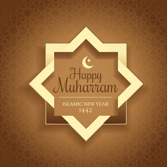 Felice muharram. bandiera di festa di capodanno islamico
