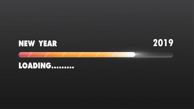 Felice nuovo anno 2019. biglietto di auguri.