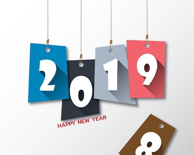 Felice nuovo anno 2019.