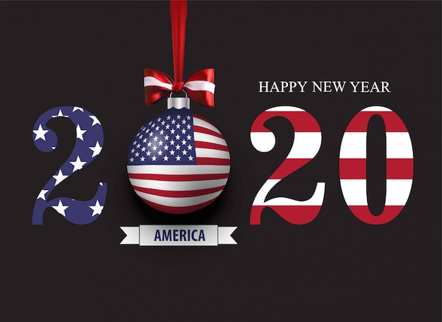 Felice nuovo anno 2020 per l'america