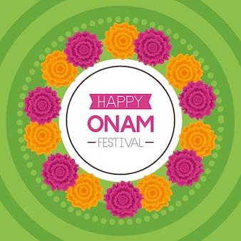 Felice onam festival celebrazione