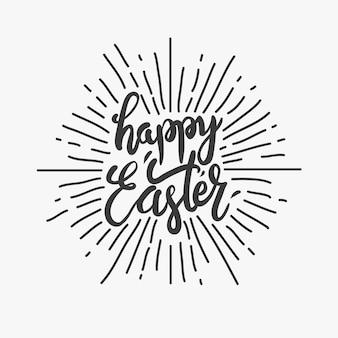 Felice pasqua uova tipo illustrazione