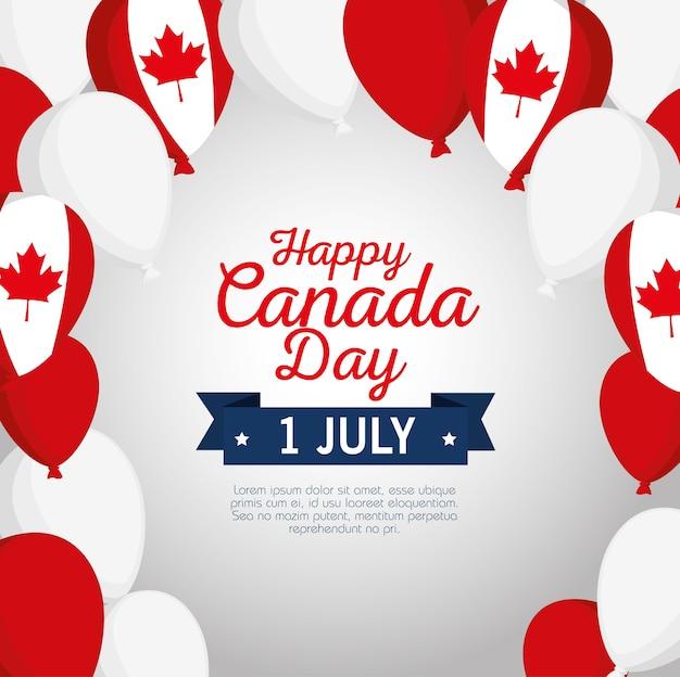 Felice poster celebrazione giornata canada