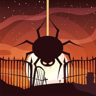 Felice ragno festa di halloween