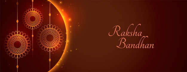 Felice raksha bandhan ampio banner saluto lucido