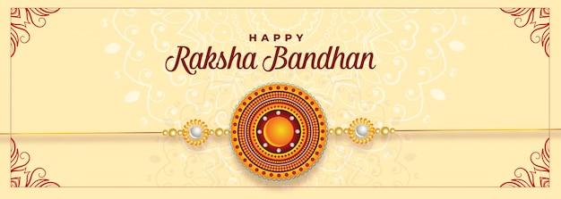 Felice raksha bandhan festival banner