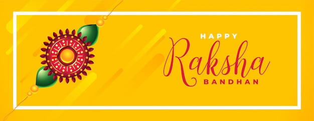 Felice raksha bandhan giallo bellissimo banner