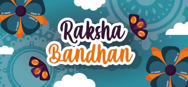 Felice raksha bandhan poster
