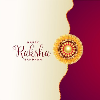 Felice saluto raksha bandhan