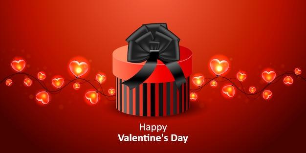 Felice san valentino banner sullo sfondo