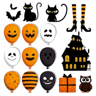 Felice set di halloween