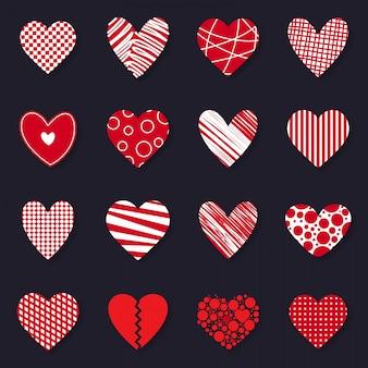 Felice set di icone di san valentino
