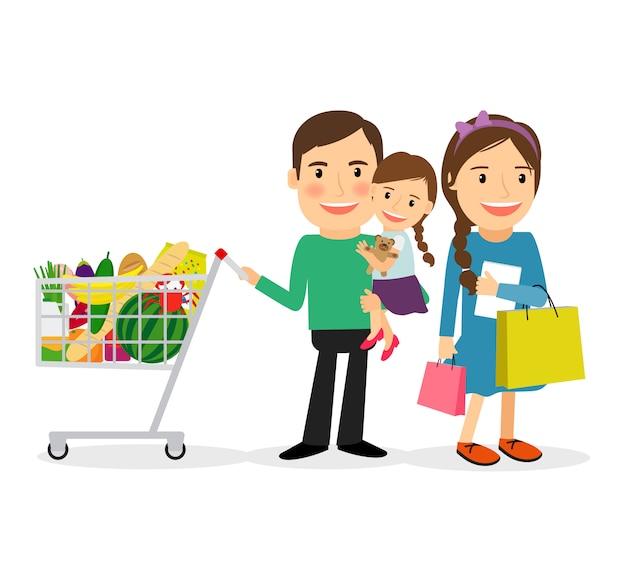 Felice shopping di famiglia
