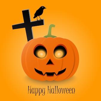 Felice tipografico di halloween