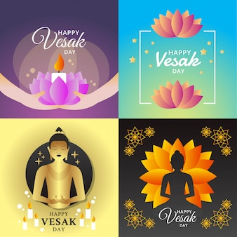 Felice vesak day illustration