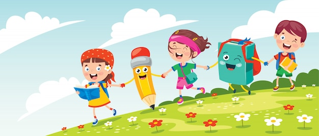 Felici piccoli bambini che si divertono