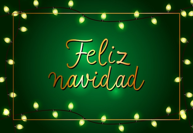 Feliz navidad design poster festivo. ghirlande di natale