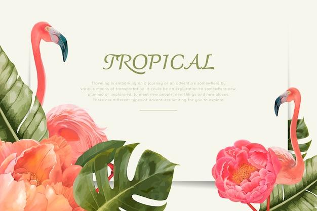 Fenicotteri tropicali disegnati a mano