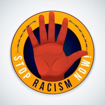 Ferma il concetto di illustrazione del razzismo