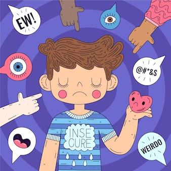 Ferma il tema dell'illustrazione dell'omofobia